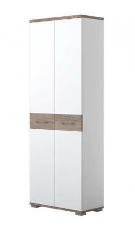 Wardrobe Sagone 01, Colour: dark brown oak/white - Dimensions: 189 x 68 x 35 cm (H x W x D)