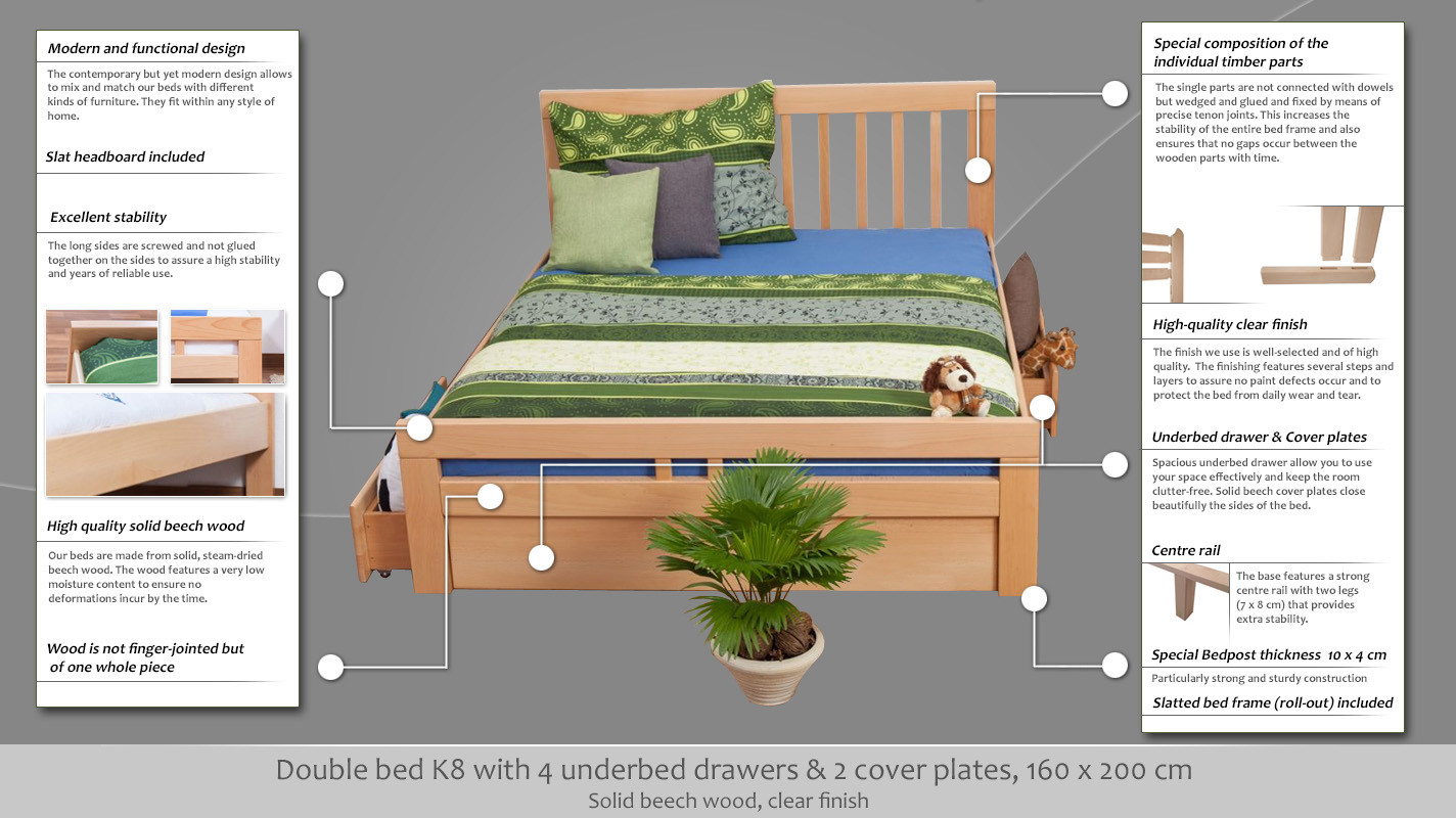 35597fd80f51 Double bed / Storage bed K8