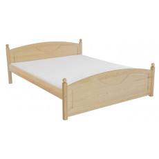 Single bed / Guest bed  81A, solid pine wood, clear finish - 140 x 200 cm