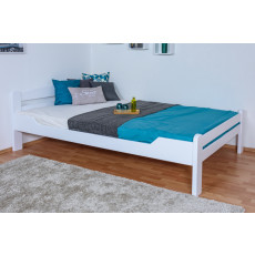 Guest Bed 'Easy Premium Line ®' K4/1, 140 x 200 cm Beech solid wood white lacquered