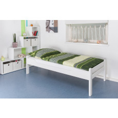 """Single bed """"Easy Premium Line"""" K1/1h, solid beech wood, white finish - 90 x 200 cm"""