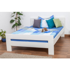 "Single bed ""Easy Premium Line"" K6, solid beech wood, white - 140 x 200 cm"