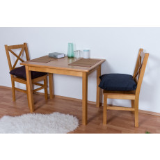 Table Pine Solid wood Alder clolr Junco 228A (angular) - 70 x 100 cm (W x D)
