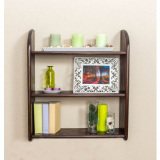 Wall shelf solid, natural pine wood 013 - Dimensions 72 x 60 x 20 cm (H x B x T)