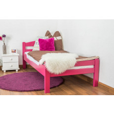 """Children's bed / Youth bed """"Easy Premium Line"""" K1/2n, solid beech wood, clearly varnished - 90 x 200 cm"""