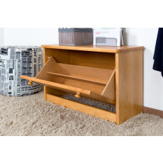 Shoe Cabinet Pine Solid wood massif Alder color Junco 216 - 45 x 72 x 30 cm (H x W x D)