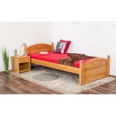 Single bed/guest bed Pine solid wood Alder color 82, incl. Slat Grate - 100 x 200 cm (W x L)