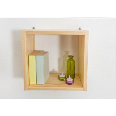 Wall shelf solid, natural pine wood Junco 291B - Dimensions 35 x 35 x 20 cm
