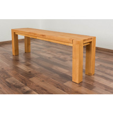 Bench Wooden Nature 133 Core solid beech - 140 x 33 cm (W x D)