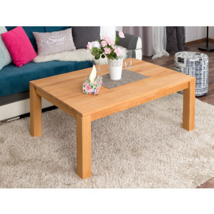 Coffee table Wooden Nature 120 Solid Beech - 120 x 80 x 45 cm (W x D x H)