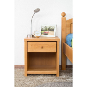 Night Dresser Pine Solid wood Alder color Junco 127 - Dimension: 44 x 40 x 35 cm (H x W x D)
