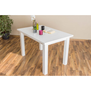 Table solid, natural pine wood Junco 240A - Dimensions 75 x 80 x 120 cm
