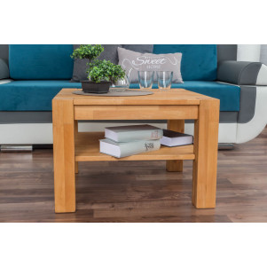 Coffee table Wooden Nature 123 Solid Core Beech - 45 x 65 x 65 cm (H x W x D)
