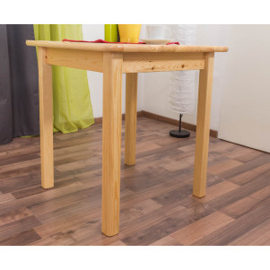 Dining Table 002, solid pine wood, clearly varnished - H75 x W70 x D70 cm