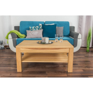 Coffee table Wooden Nature 07 Oak Solid Oiled - Dimension 47 x 100 x 70 cm (H x W x D)