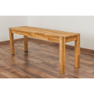 Bench Wooden Nature 134 Solid Oak - 120 x 33 cm (W x D)