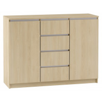 Kiunga 08 chest of drawers, colour: beech / white - Measurements: 91 x 122 x 40 cm (H x W x D)