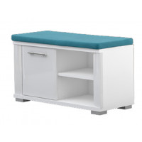 Bench with storage space Sili 04, Colour: White - Dimensions: 45 x 80 x 36 cm (H x W x D)