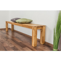 Bench Wooden Nature 132 Solid Oak - 200 x 33 cm (W x D)