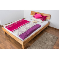 Futon bed / Solid wood bed Wooden Nature 01, heartwood beech wood, oiled  - size 140 x 200 cm