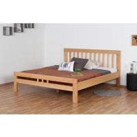 Double bed ' Easy Premium Line ® ' K8/1, 180 x 200 cm Beech solid wood natural