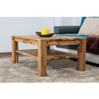 Coffee table Wooden Nature 121 Solid Oak - 105 x 65 x 45 cm (W x D x H)