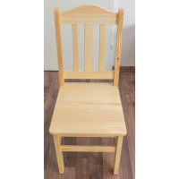 Chair solid, natural pine wood 001 - Dimensions 93 x 43 x 45 cm (H x B x T)