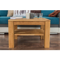 Coffee table Wooden Nature 420 Solid Oak - 65 x 65 x 45 cm (W x D x H)