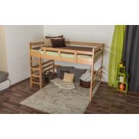Adults bunk bed ' Easy Premium Line ® ' K15/n, solid beech wood natural, convertible - lying area: 160 x 190 cm
