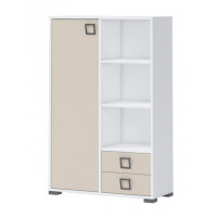 Dresser 26, Color: white/Cream - Dimensions: 134 x 86 x 37 cm (H x W x D)