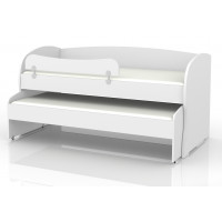 Child bed/teenager Benjamin 02 2nd bedding included, Colour: white - Size of bed: 90 x 200 cm (L x W)