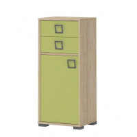 Child's room dresser Benjamin 22, Colour: Beech/Olive Green - 102 x 44 x 37 cm (H x W x D)
